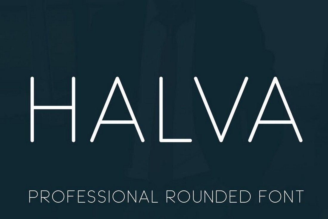 Halva - Professional Rounded Font