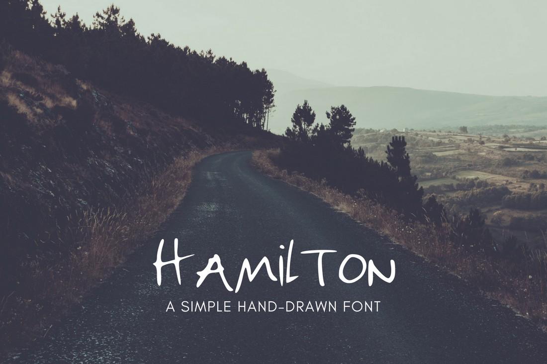 Hamilton - Free Hand-Drawn Font