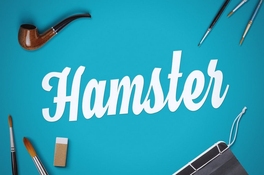 Fuentes manuscritas elegantes: Hamster Script