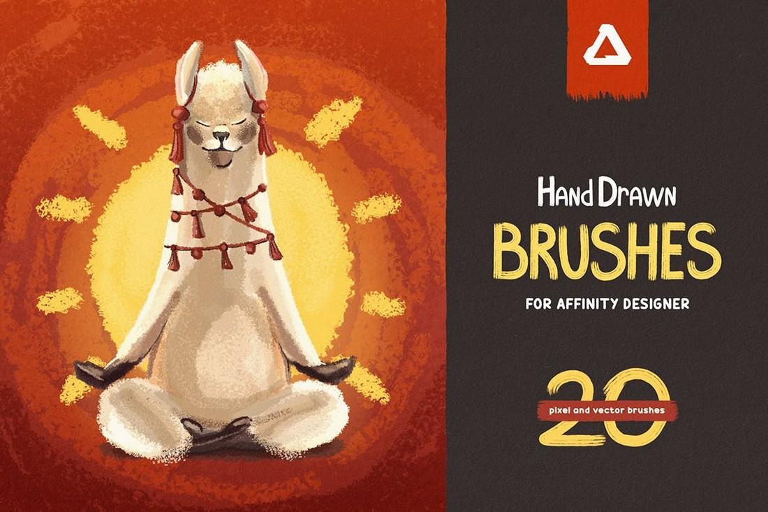 Hand-Drawn-Brushes-for-Affinity-Designer 15+ Best Affinity Designer Brushes design tips
