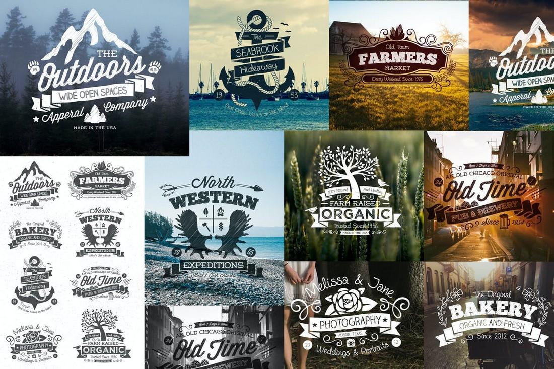 Hand Drawn Vintage Logos & Labels