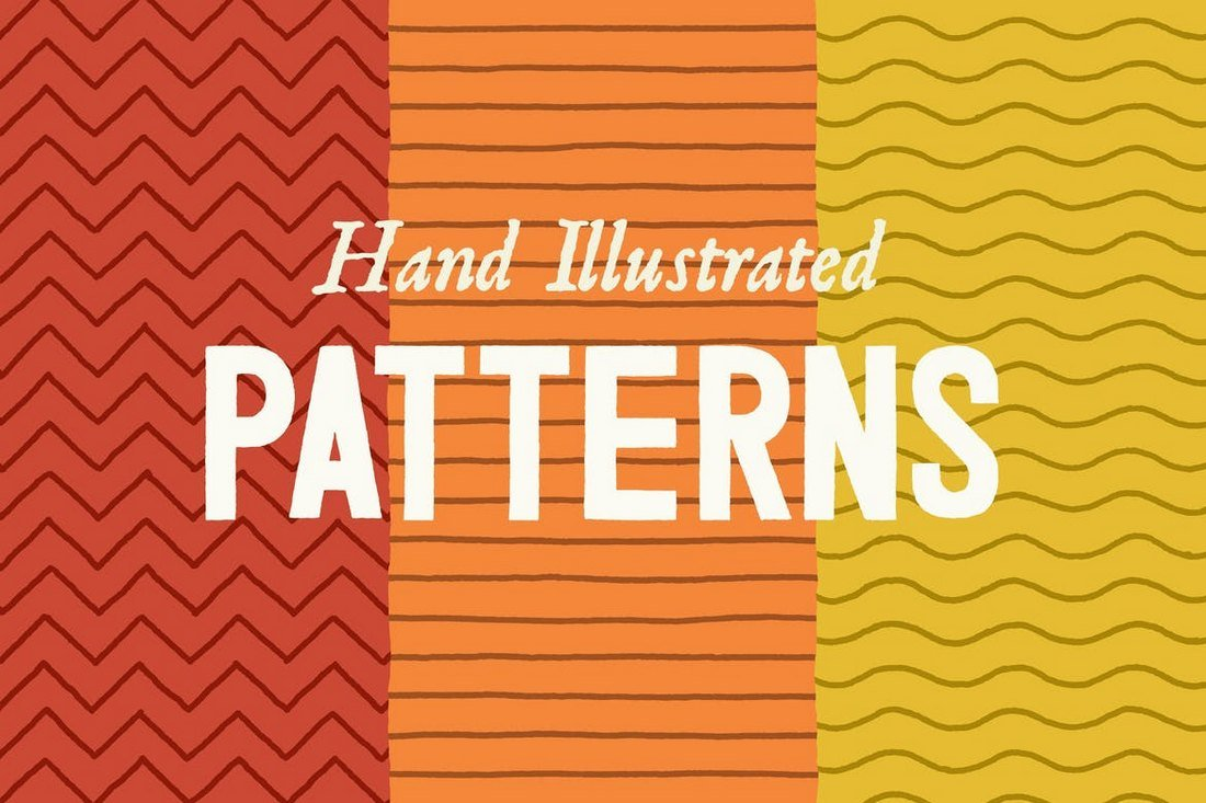 Hand-Illustrated-Line-Patterns-1 50+ Best Free Photoshop Patterns 2021 design tips