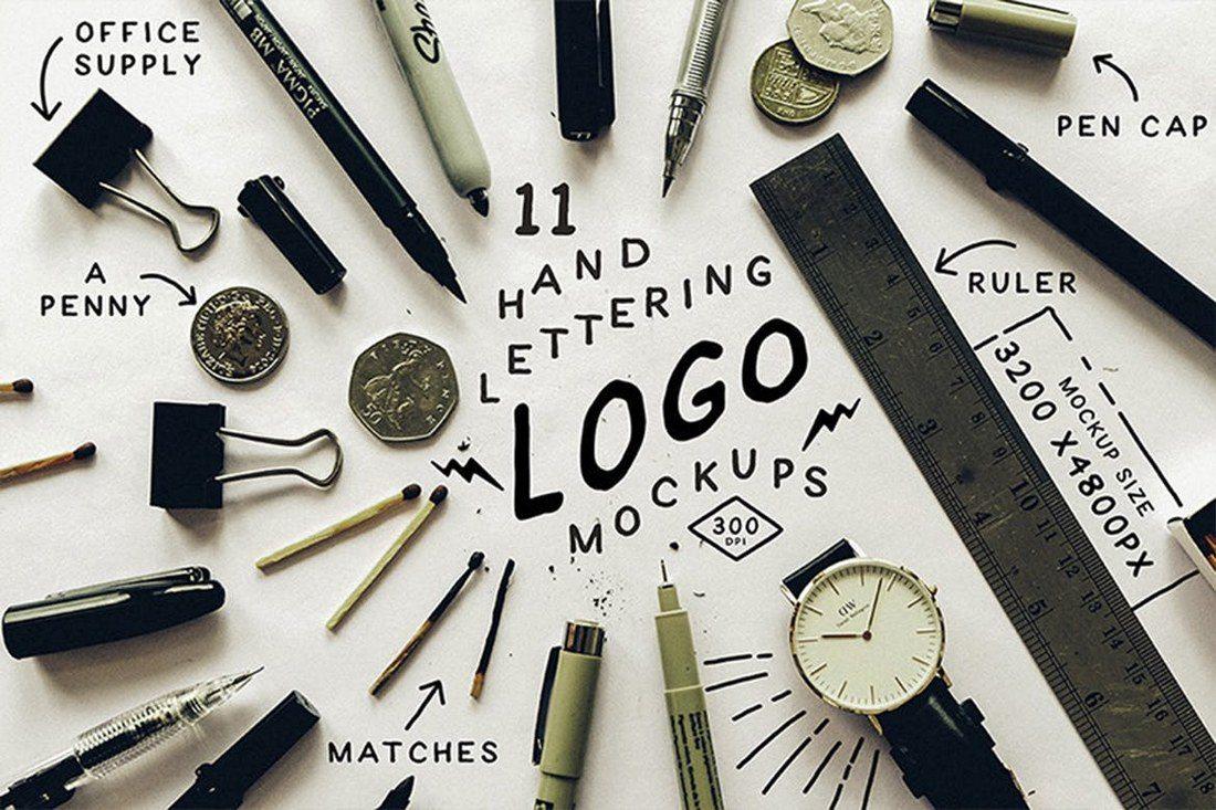 Hand-Lettering-Logo-Mockups-1 40+ Stunning Vintage Mockup Packs & Graphics design tips