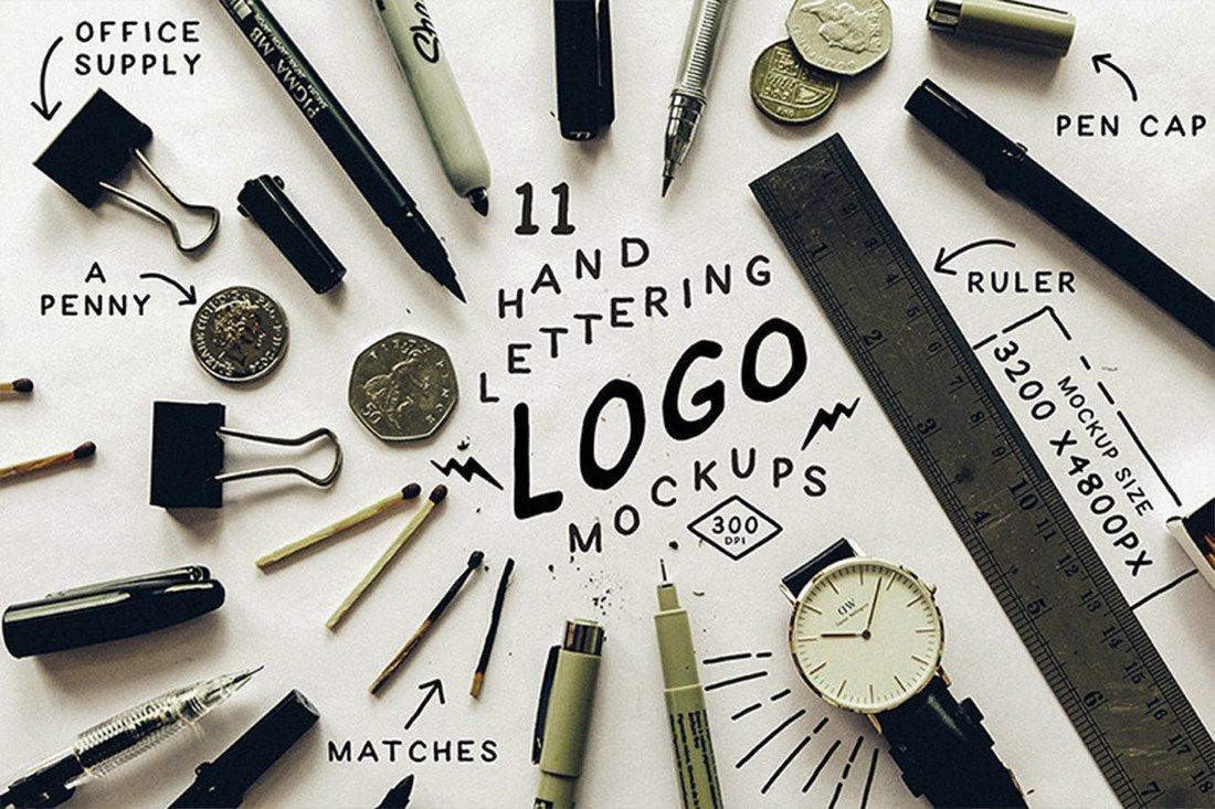 Hand-Lettering-Logo-Mockups 100+ Logo Mockup Templates (PSD & Vector) design tips