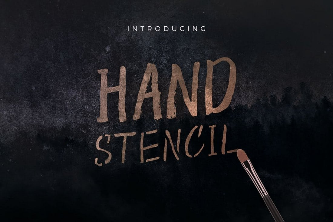 Hand-Stencil-1 30+ Best Stencil Fonts design tips