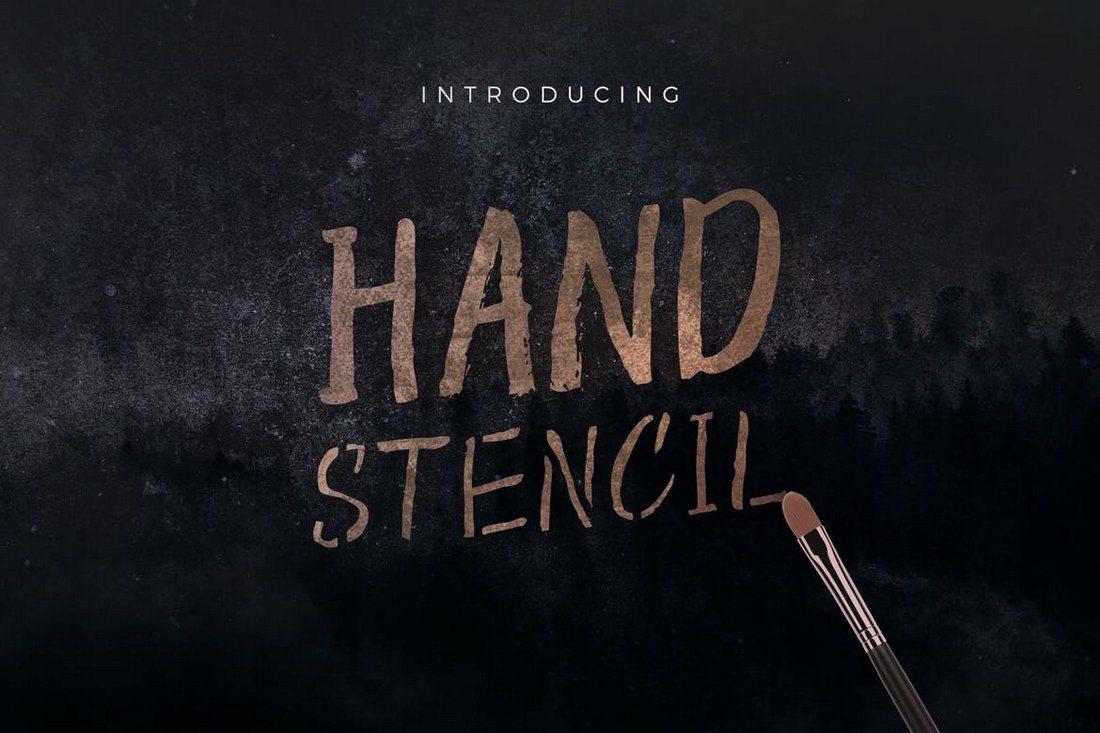 Hand-Stencil 30+ Best Hand Lettering Fonts design tips