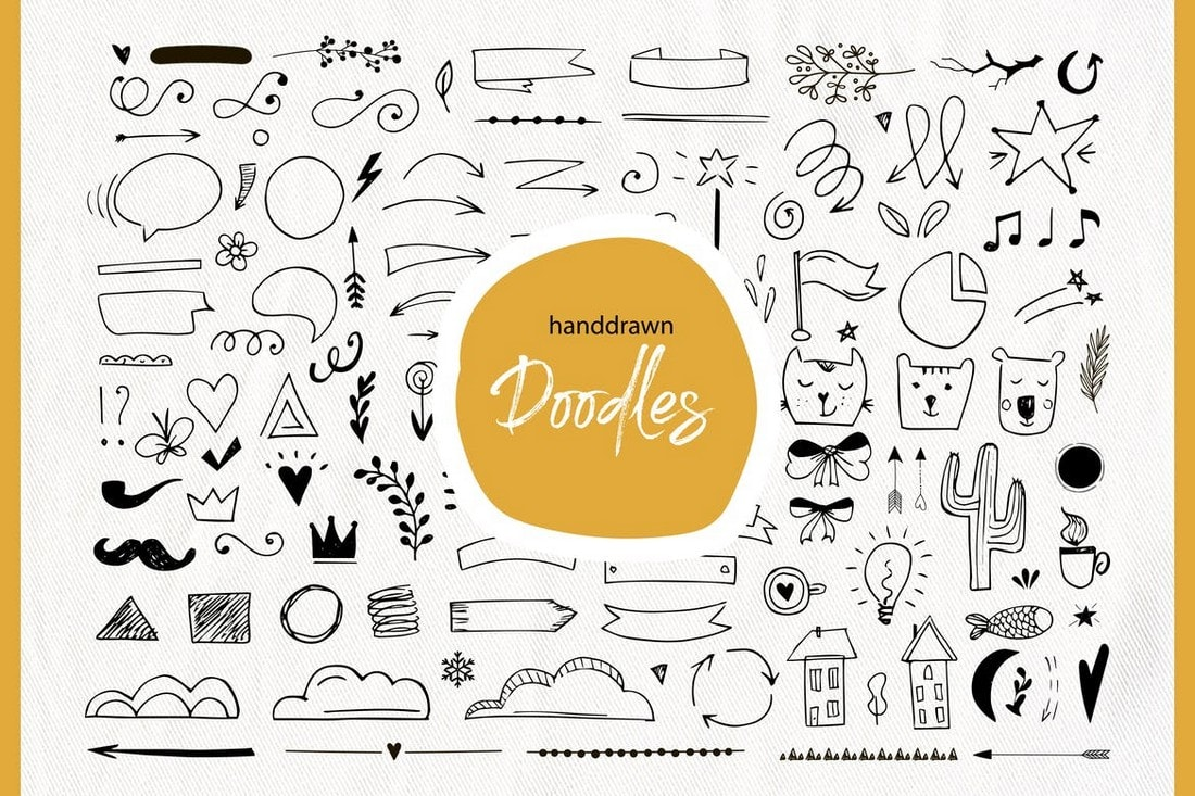 Handdrawn Doodle Elements Instagram Icons