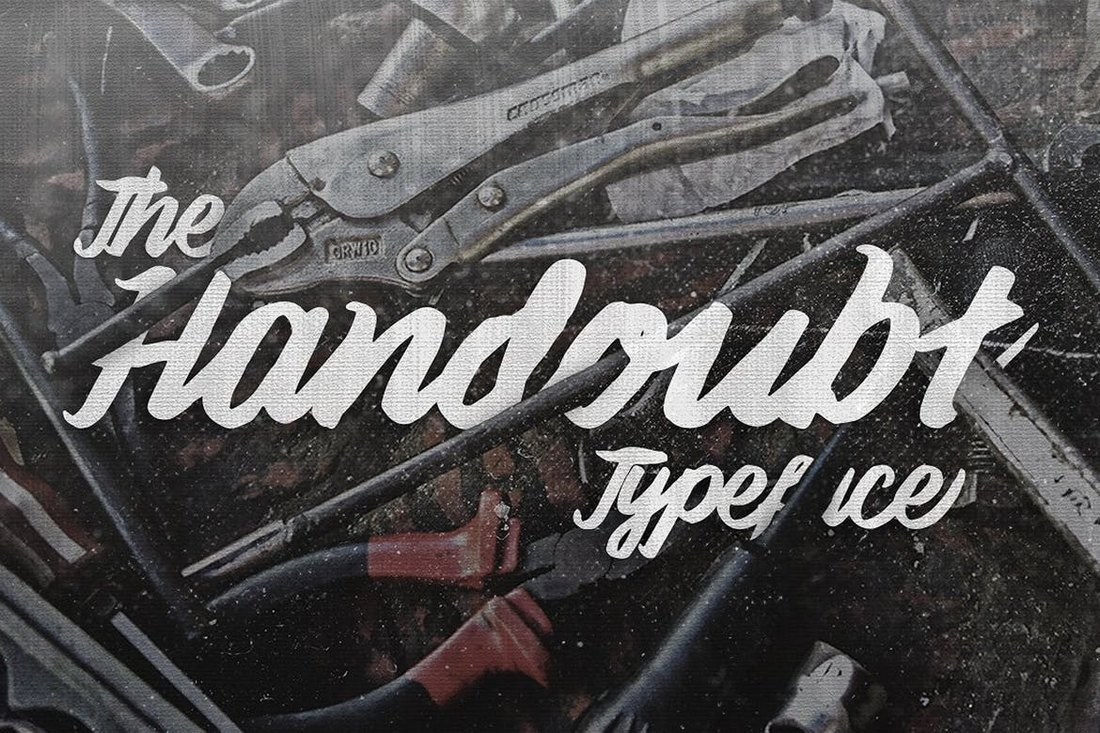 Handoubt-Typeface-Creative-Script-Font 100+ Beautiful Script, Brush & Calligraphy Fonts design tips