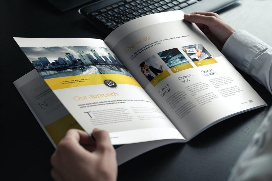 Hands Holding Brochure & Magazine Mockup