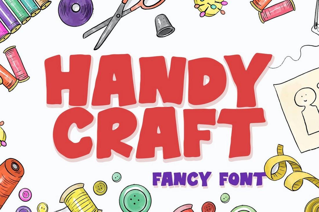 Handy Craft - Chunky Cartoon Font