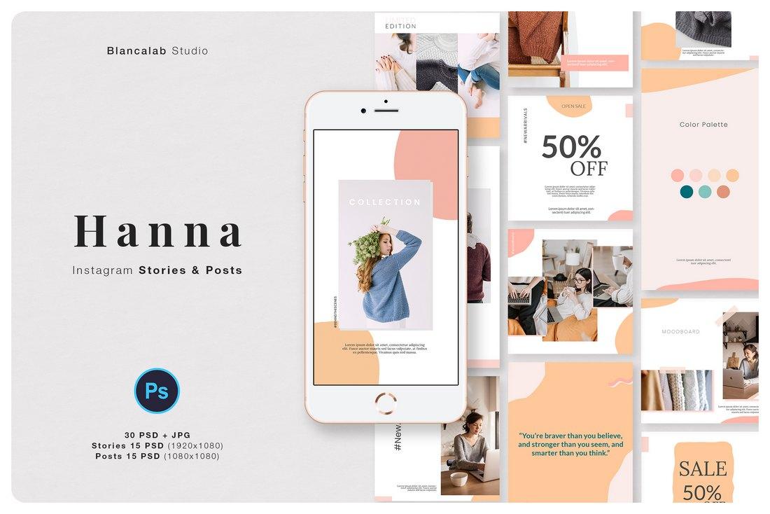 Hanna - Free Instagram Promo Templates