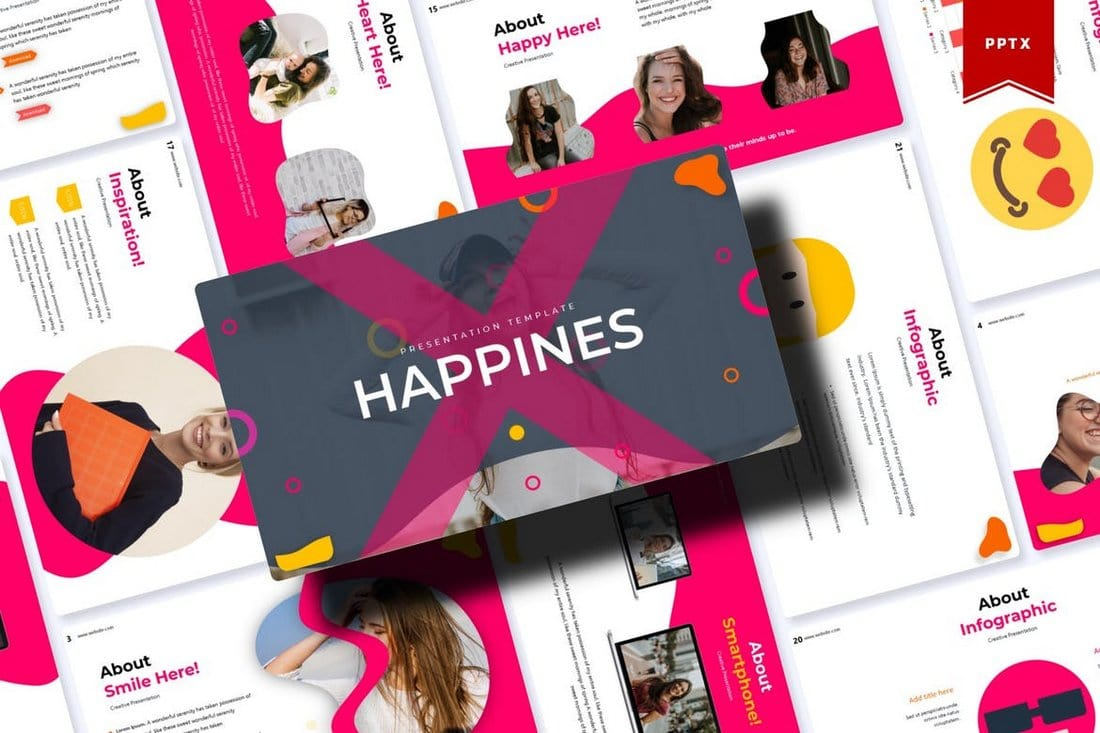 Happines-Animated-PowerPoint-Template 30+ Animated PowerPoint Templates (Free + Premium) design tips