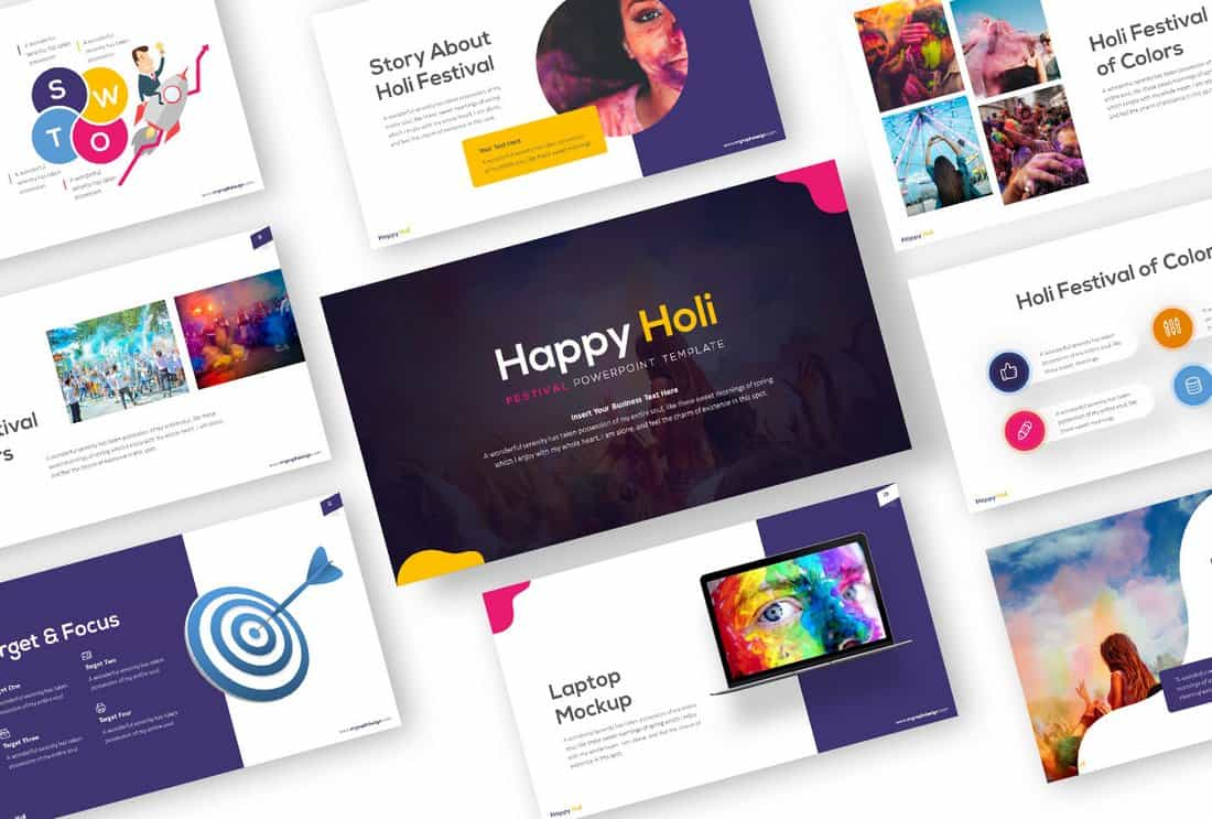 Happy Holi - Creative Free Powerpoint Template