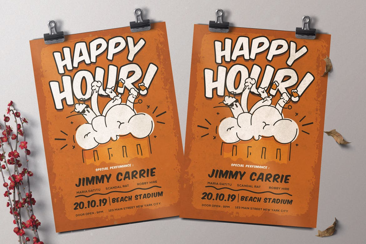 Happy-Hour-Flyer-Template 30+ Best Event Flyer Templates design tips