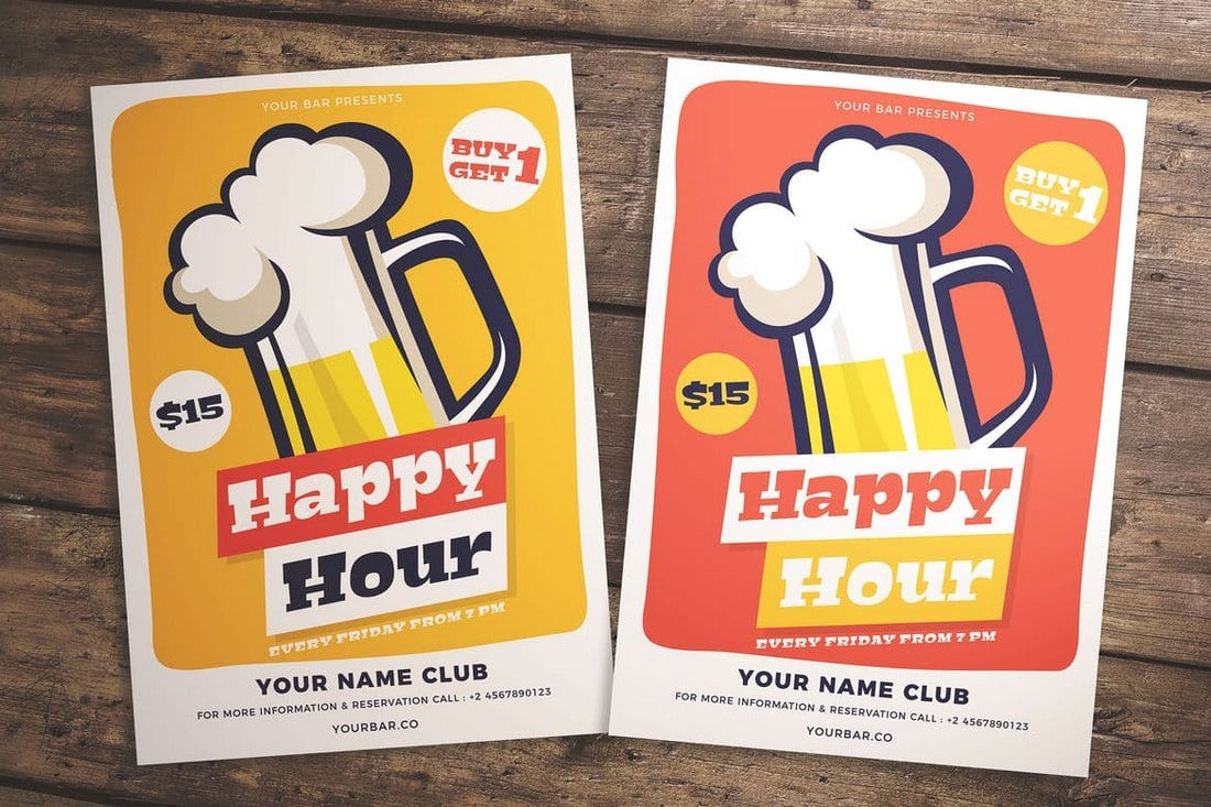 Happy-Hour-Flyer 20+ Best Party & Club Flyer Templates design tips