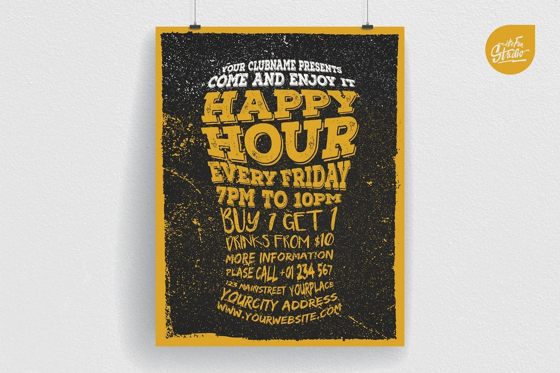 Happy Hour Typography Flyer
