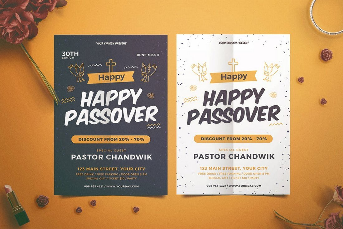 Happy-Passover-Church-Bulletin-Template 20+ Church Bulletin & Newsletter Templates design tips
