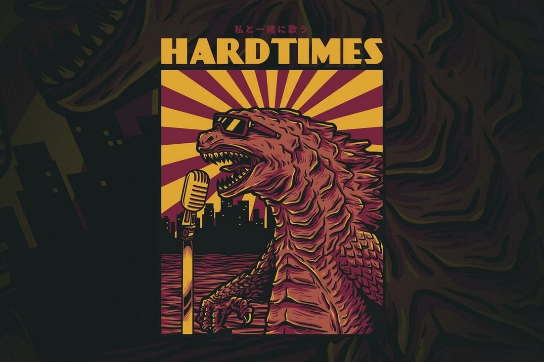 Hardtimes-tshirt-design 10+ Creative T-Shirt Design Ideas (How to Design a T-Shirt) design tips