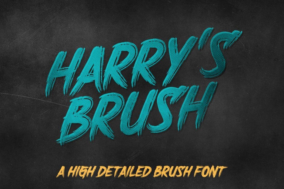 Harrys-Brush 100+ Beautiful Script, Brush & Calligraphy Fonts design tips