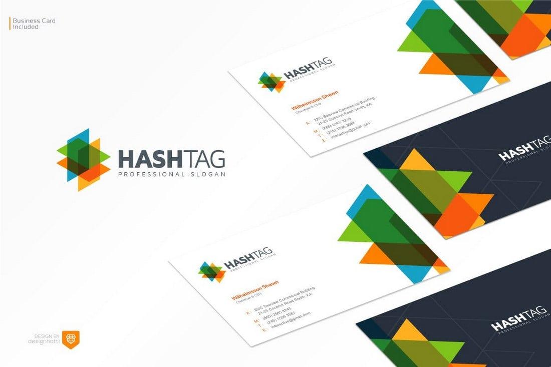 Hashtag Logo Design Template
