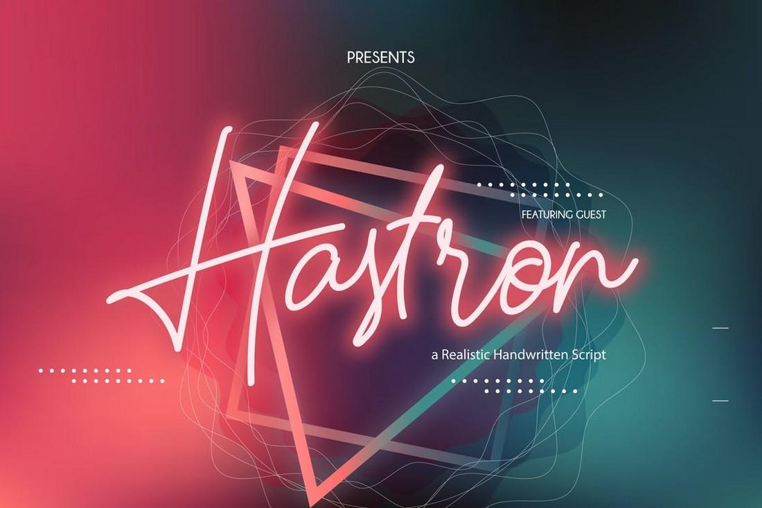 Hastron - Neon Monoline Retro Font