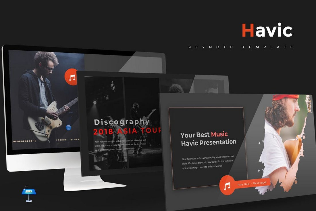 Havic-Keynote-Template 50+ Best Keynote Templates of 2020 design tips  Inspiration|keynote|powerpoint|presentation