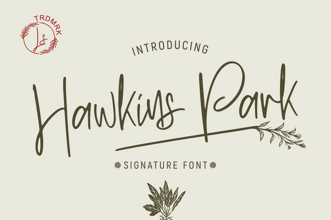 Hawkins Park - Hand-Drawn Signature Font
