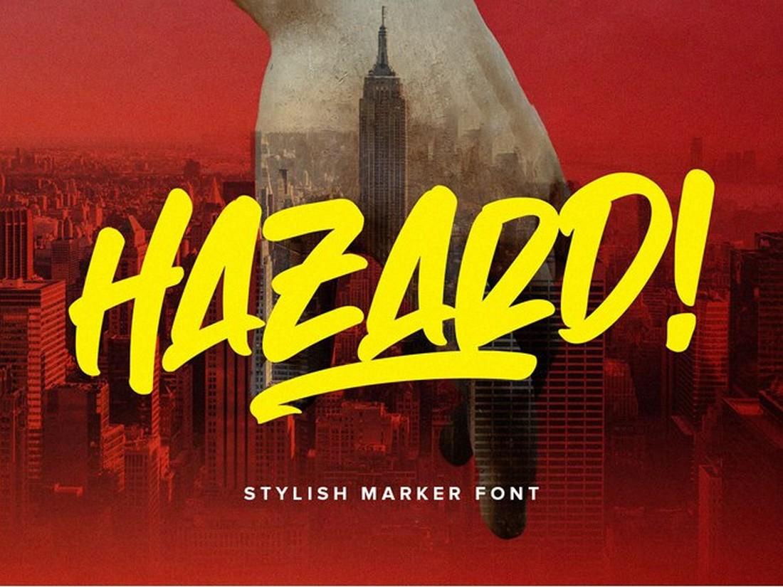 Hazard - Free Marker Font