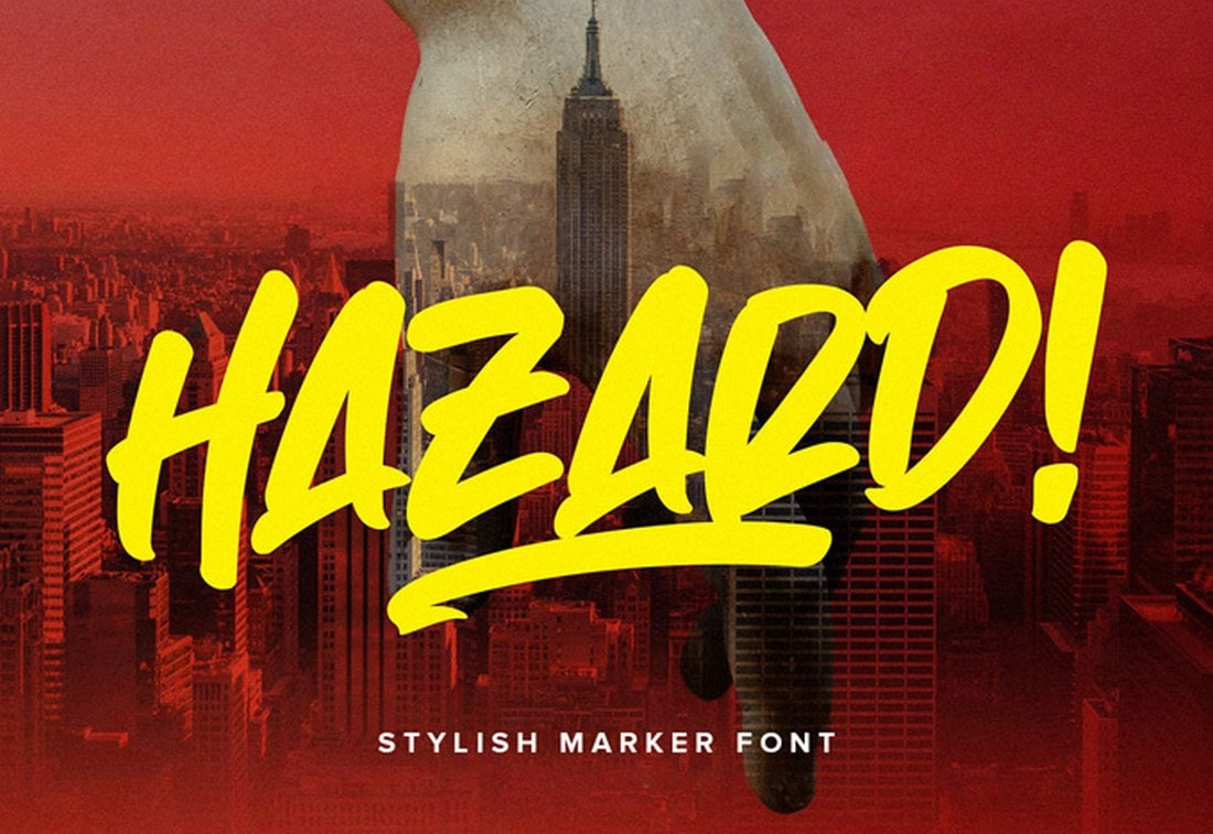 Hazard-Free-Marker-Font 60+ Best Free Fonts for Designers 2020 (Serif, Script & Sans Serif) design tips