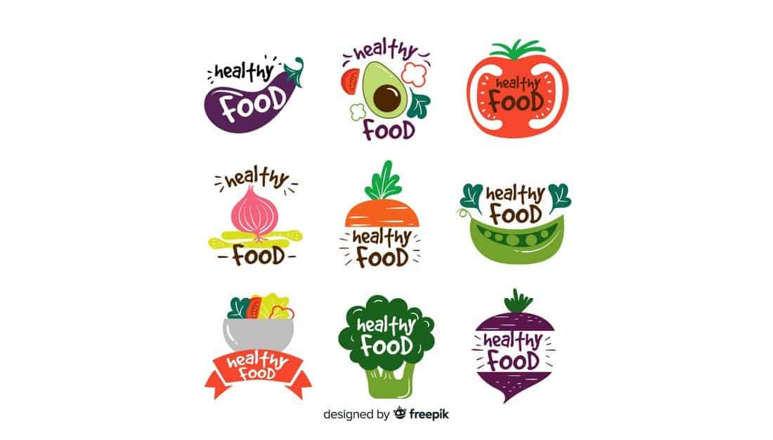 Healthy-Food-Logo-Templates 20+ Best Free Logo Templates design tips