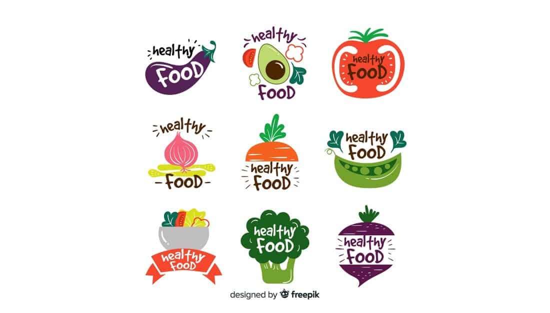 Healthy Food Logo Templates