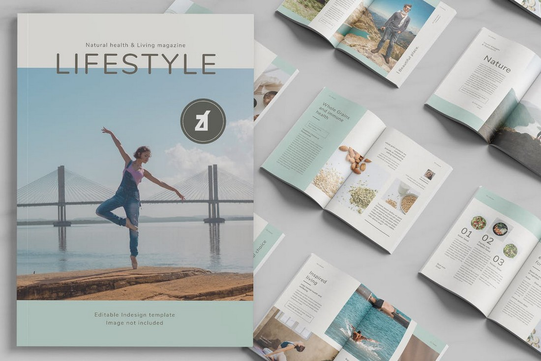 Healthy Lifestyle Magazine InDesign Template
