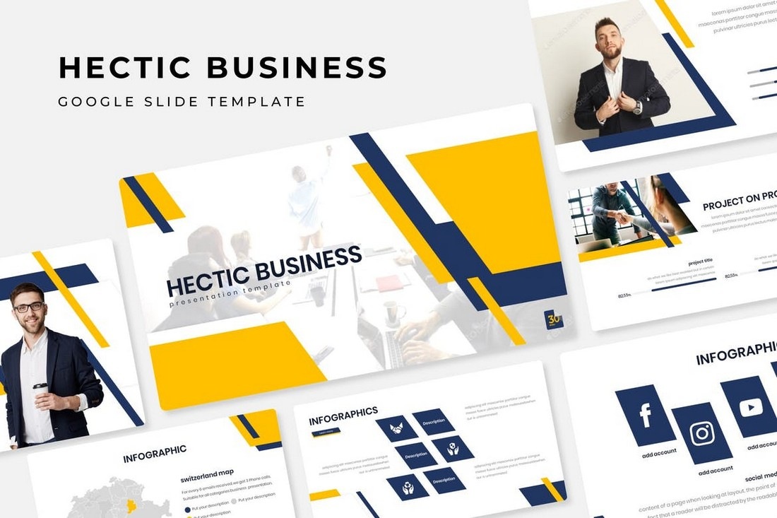 Hectic Business - Google Slide Template