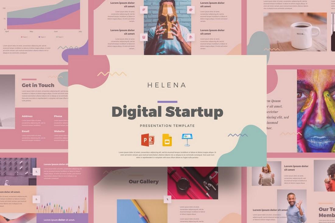 Helena - Digital Startup Presentation Template