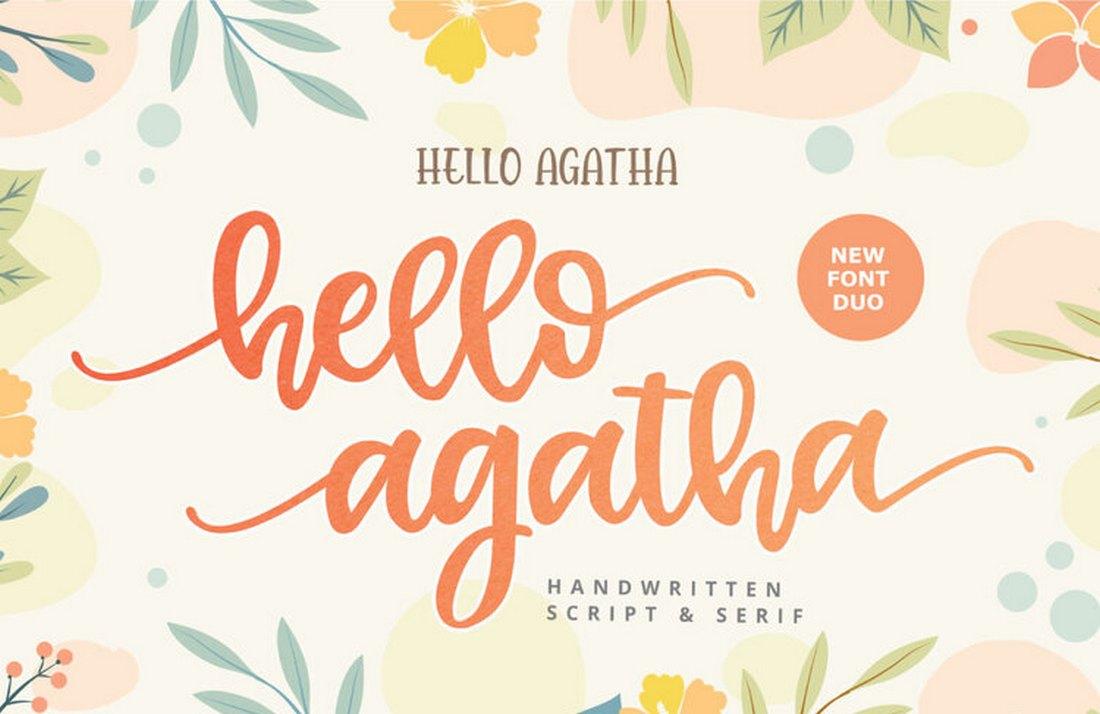 Hi Agatha - Free Script Font for Procreate