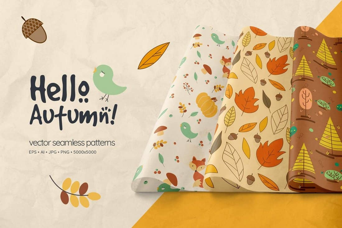 Hello-Autumn-Seamless-Patterns 50+ Best Free Photoshop Patterns 2021 design tips