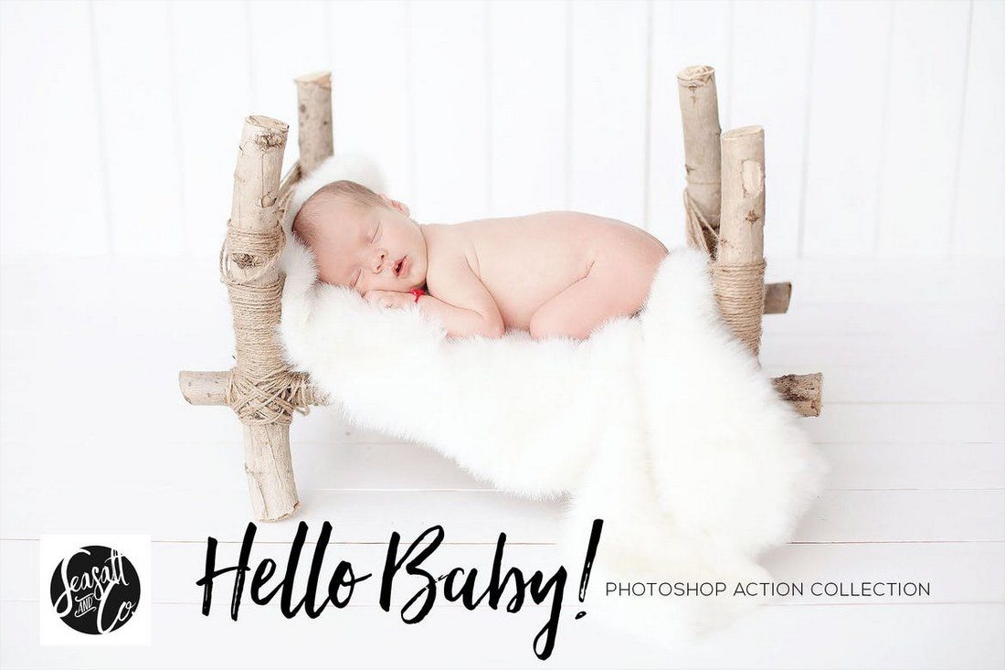 Hello-Baby-Collection 20+ Best Portrait Photoshop Actions design tips