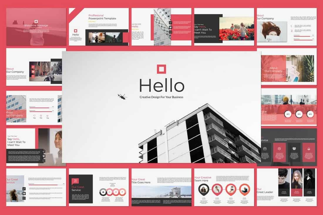 Hello Business Powerpoint Template