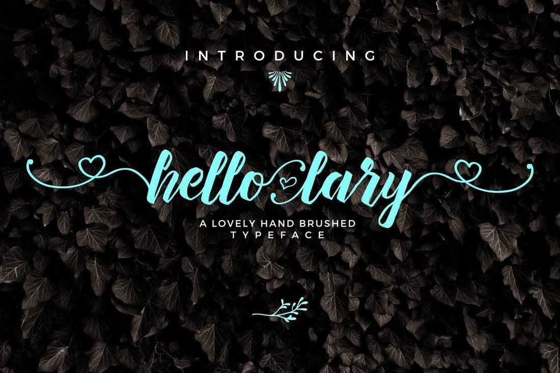Hello-Lary-Font 30+ Best Hand Lettering Fonts design tips