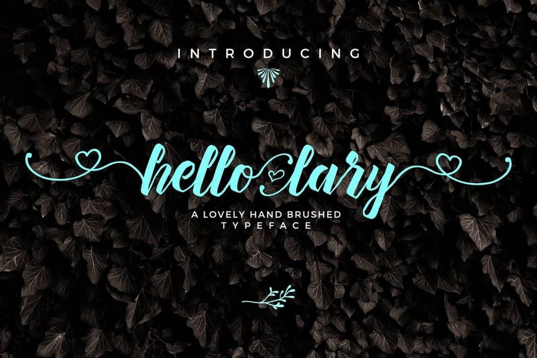 Hello Lary - Handmade Wedding Font