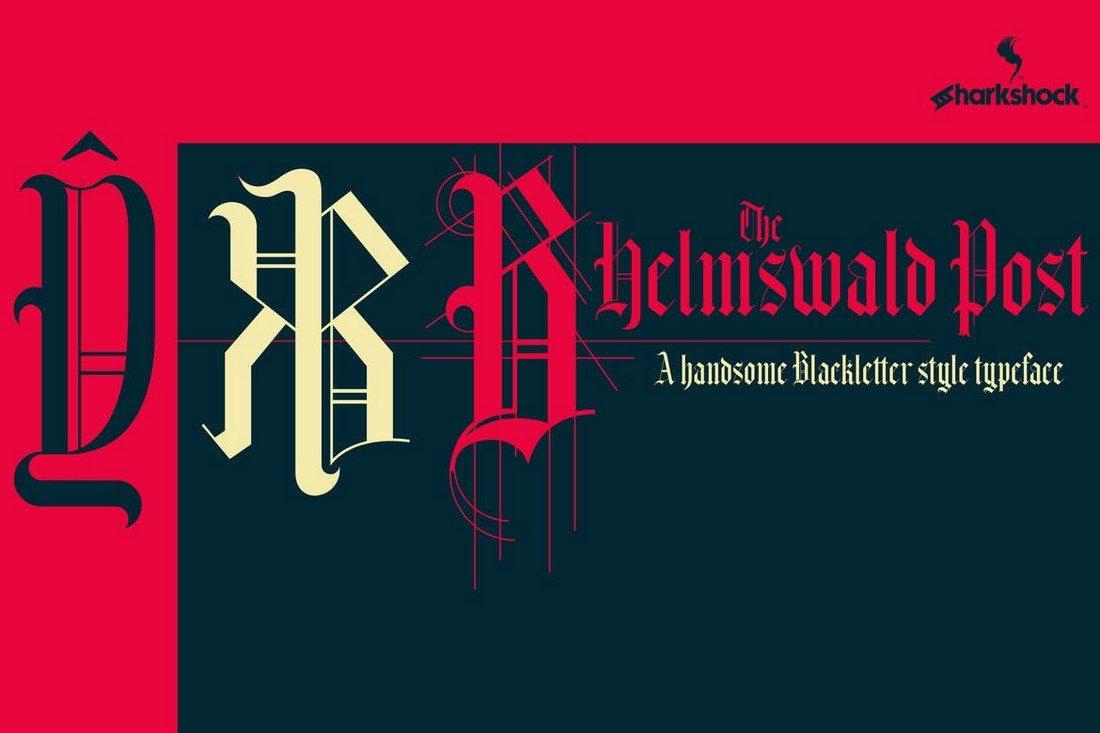 Helmswald-Post 35+ Best Blackletter Fonts design tips