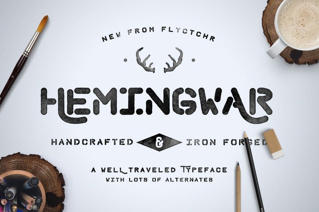 Hemingwar-Font-1 30+ Best Stencil Fonts design tips