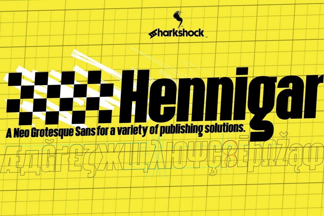 Hennigar 50+ Best Condensed & Narrow Fonts of 2020 design tips