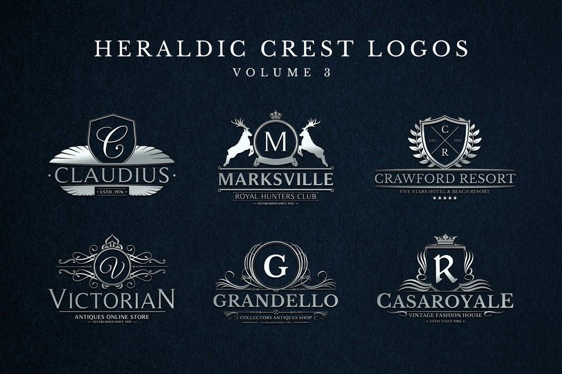Heraldic Crest Logo Templates