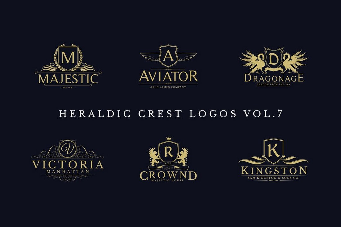 Heraldic-Crest-Logos-Sign-Templates 20+ Best Sign Templates & Mockups design tips