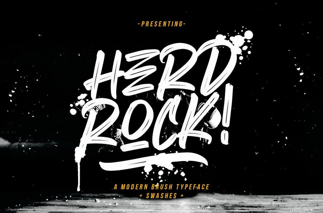 Herdrock - Free Creative Brush Font
