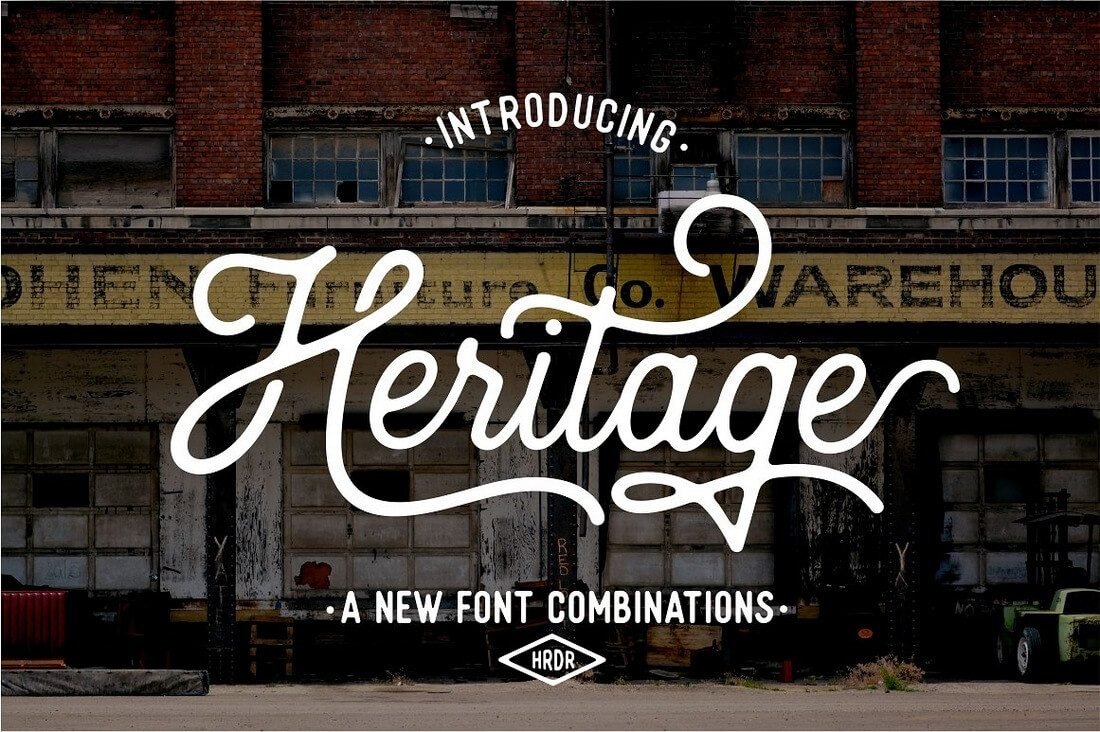 Heritage-Font-Combinations 100+ Beautiful Script, Brush & Calligraphy Fonts design tips