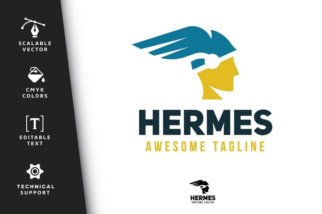 Hermes - Creative Logo Template PSD