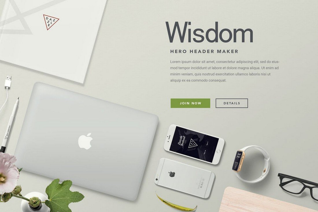 Hero Header Mockup – Apple Devices Mockup Generator