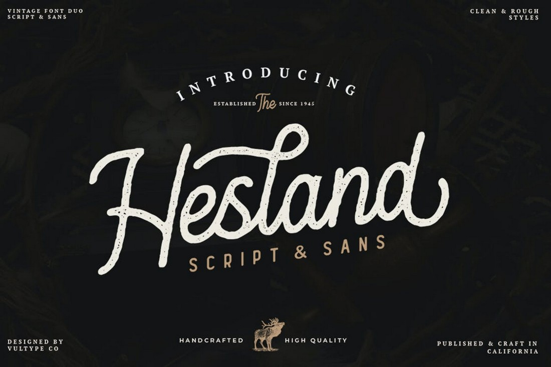 Hesland - Rustic Script Font